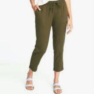Linen blend pull on pants